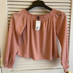 New Junior's XS pink long sleeve top